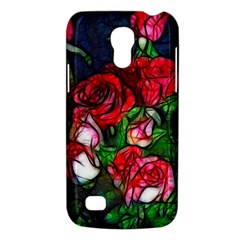 Abstract Red And White Roses Bouquet Samsung Galaxy S4 Mini (gt I9190) Hardshell Case  by bloomingvinedesign