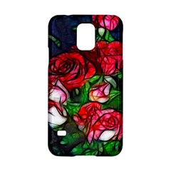 Abstract Red And White Roses Bouquet Samsung Galaxy S5 Hardshell Case