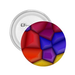 3d Colorful Shapes 2 25  Button by LalyLauraFLM