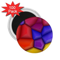 3d Colorful Shapes 2 25  Magnet (100 Pack)  by LalyLauraFLM