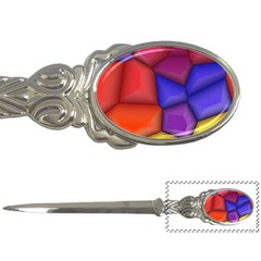 3d Colorful Shapes Letter Opener by LalyLauraFLM