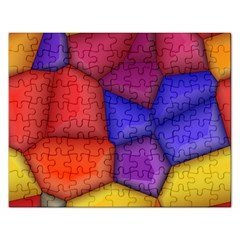 3d Colorful Shapes Jigsaw Puzzle (rectangular) by LalyLauraFLM