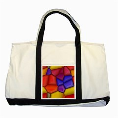 3d Colorful Shapes Two Tone Tote Bag by LalyLauraFLM