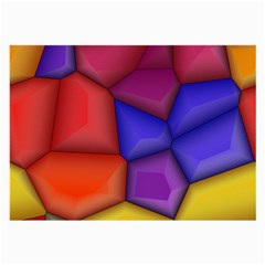 3d Colorful Shapes Glasses Cloth (large) by LalyLauraFLM