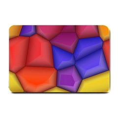 3d Colorful Shapes Small Doormat by LalyLauraFLM