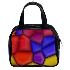 3d Colorful Shapes Classic Handbag (two Sides) by LalyLauraFLM