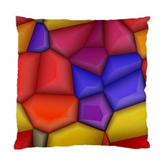 3d Colorful Shapes Standard Cushion Case (two Sides)