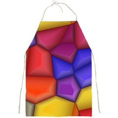 3d Colorful Shapes Full Print Apron by LalyLauraFLM