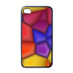 3d Colorful Shapes Apple Iphone 4 Case (black) by LalyLauraFLM