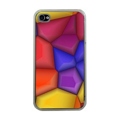 3d Colorful Shapes Apple Iphone 4 Case (clear) by LalyLauraFLM
