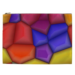 3d Colorful Shapes Cosmetic Bag (xxl) by LalyLauraFLM