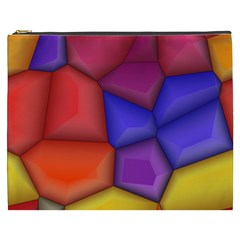 3d Colorful Shapes Cosmetic Bag (xxxl) by LalyLauraFLM