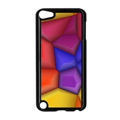 3d Colorful Shapes Apple Ipod Touch 5 Case (black) by LalyLauraFLM
