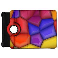 3d Colorful Shapes Kindle Fire Hd Flip 360 Case by LalyLauraFLM