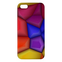 3d Colorful Shapes Apple Iphone 5 Premium Hardshell Case by LalyLauraFLM
