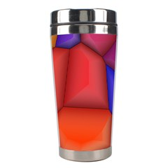 3d Colorful Shapes Stainless Steel Travel Tumbler by LalyLauraFLM