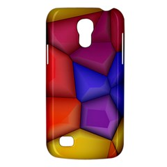 3d Colorful Shapes Samsung Galaxy S4 Mini (gt I9190) Hardshell Case  by LalyLauraFLM