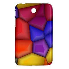 3d Colorful Shapes Samsung Galaxy Tab 3 (7 ) P3200 Hardshell Case  by LalyLauraFLM