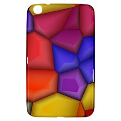 3d Colorful Shapes Samsung Galaxy Tab 3 (8 ) T3100 Hardshell Case  by LalyLauraFLM