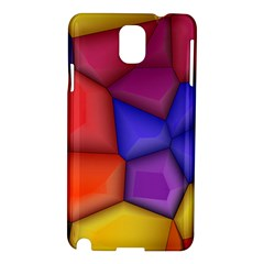 3d colorful shapes Samsung Galaxy Note 3 N9005 Hardshell Case