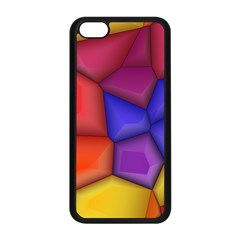 3d Colorful Shapes Apple Iphone 5c Seamless Case (black) by LalyLauraFLM