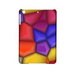 3d Colorful Shapes Apple Ipad Mini 2 Hardshell Case by LalyLauraFLM