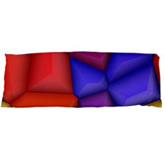 3d Colorful Shapes Body Pillow Case Dakimakura (two Sides) by LalyLauraFLM