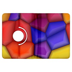 3d Colorful Shapes Kindle Fire Hdx Flip 360 Case by LalyLauraFLM