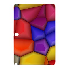3d Colorful Shapes Samsung Galaxy Tab Pro 10 1 Hardshell Case by LalyLauraFLM