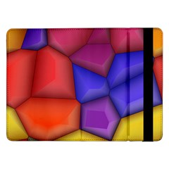3d Colorful Shapes Samsung Galaxy Tab Pro 12 2  Flip Case by LalyLauraFLM