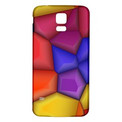 3d Colorful Shapes Samsung Galaxy S5 Back Case (white) by LalyLauraFLM