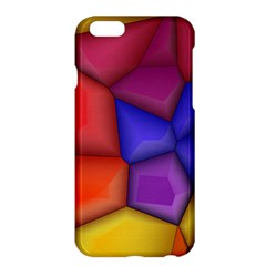 3d Colorful Shapes Apple Iphone 6 Plus Hardshell Case by LalyLauraFLM