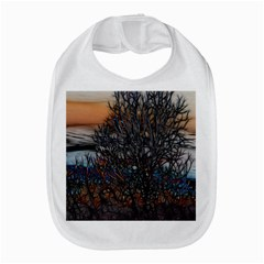 Abstract Sunset Tree Bib by bloomingvinedesign