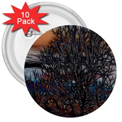 Abstract Sunset Tree 3  Button (10 Pack) by bloomingvinedesign