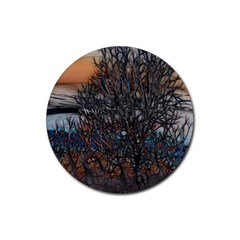 Abstract Sunset Tree Drink Coasters 4 Pack (round) by bloomingvinedesign