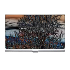 Abstract Sunset Tree Business Card Holder by bloomingvinedesign