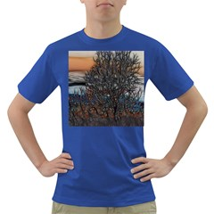 Abstract Sunset Tree Men s T Shirt (colored) by bloomingvinedesign