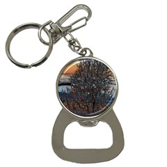 Abstract Sunset Tree Bottle Opener Key Chain by bloomingvinedesign