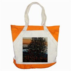 Abstract Sunset Tree Accent Tote Bag by bloomingvinedesign