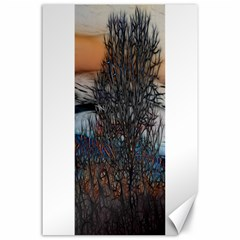 Abstract Sunset Tree Canvas 24  X 36  (unframed)