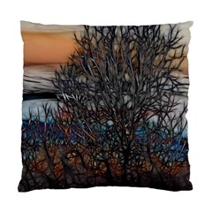 Abstract Sunset Tree Cushion Case (two Sided)