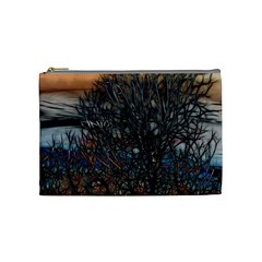 Abstract Sunset Tree Cosmetic Bag (medium)