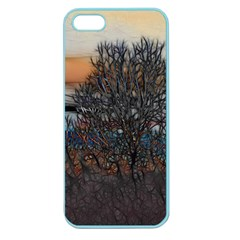 Abstract Sunset Tree Apple Seamless Iphone 5 Case (color)