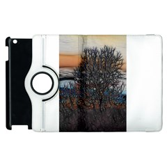 Abstract Sunset Tree Apple Ipad 2 Flip 360 Case by bloomingvinedesign