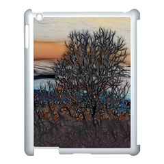 Abstract Sunset Tree Apple Ipad 3/4 Case (white) by bloomingvinedesign