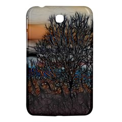 Abstract Sunset Tree Samsung Galaxy Tab 3 (7 ) P3200 Hardshell Case  by bloomingvinedesign
