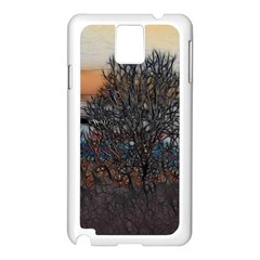 Abstract Sunset Tree Samsung Galaxy Note 3 N9005 Case (white)