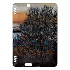 Abstract Sunset Tree Kindle Fire HDX Hardshell Case by bloomingvinedesign