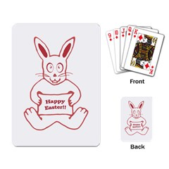 Cute Bunny With Banner Drawing Playing Cards Single Design by dflcprints