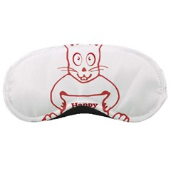 Cute Bunny With Banner Drawing Sleeping Mask by dflcprints